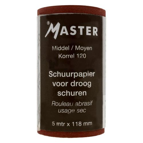 master Schuurpapier rol 118mmx5mtr Korrel 80