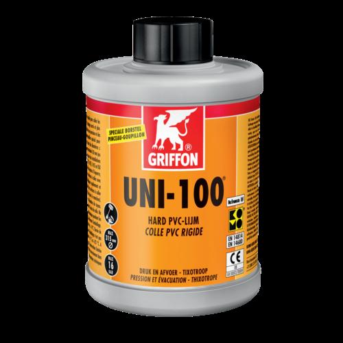 Griffon UNI-100 Hard PVC-Lijm Flacon met borstel