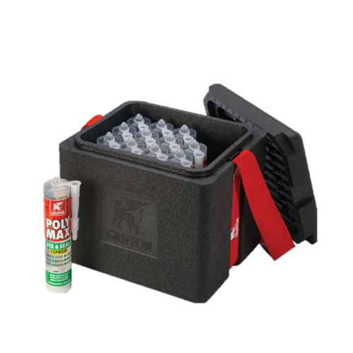 Griffon 12x Poly Max Fix & Seal Express Crystal Clear + GRATIS Thermobox
