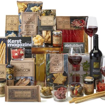 Kerstpakket Italiaanse borrel
