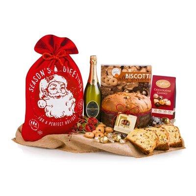 Kerstpakket Santa Claus Panettone