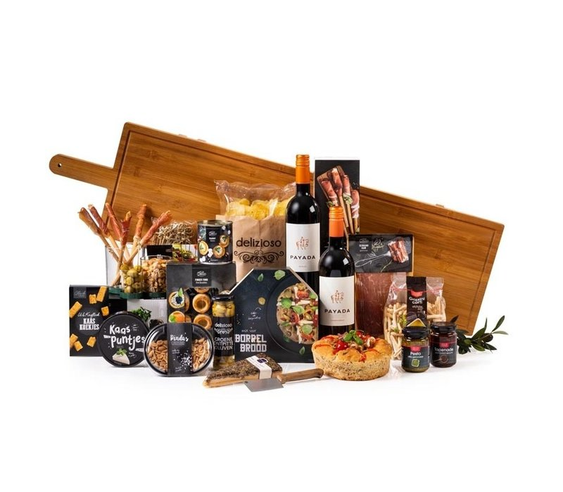 Kerstpakket XXL Tapas Plank - 9% BTW