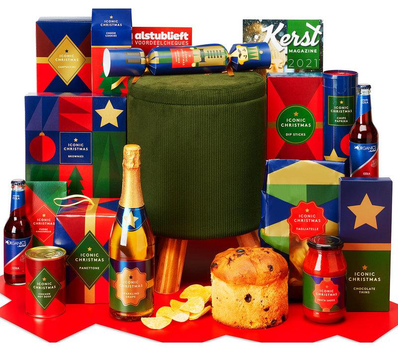 Kerstpakket Poef vol lekkers - 21% BTW