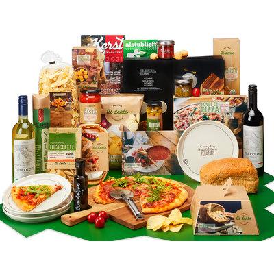 Kerstpakket Italië op een plank