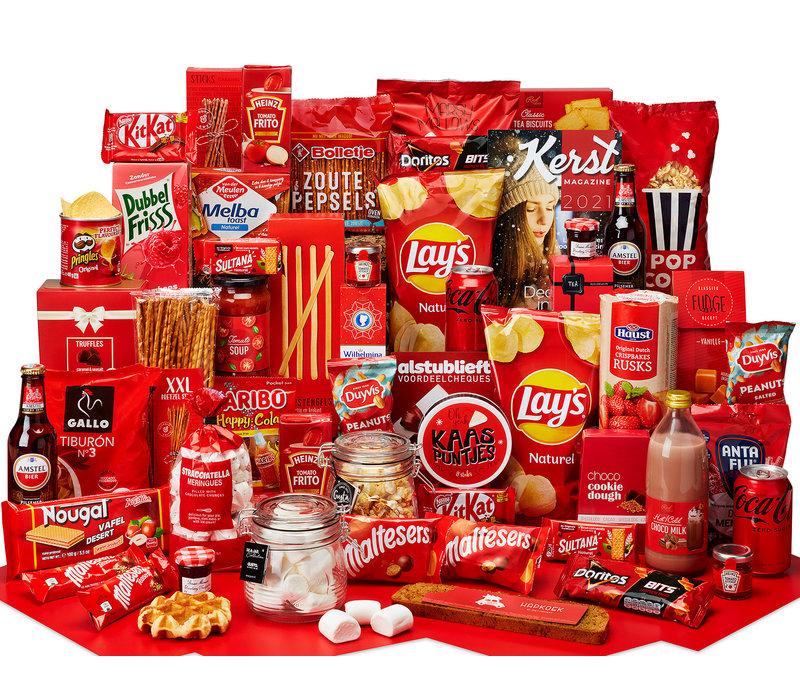 Kerstpakket Genieten in rood - 9% BTW