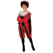 Pieten kostuum vrouw rood/zwart
