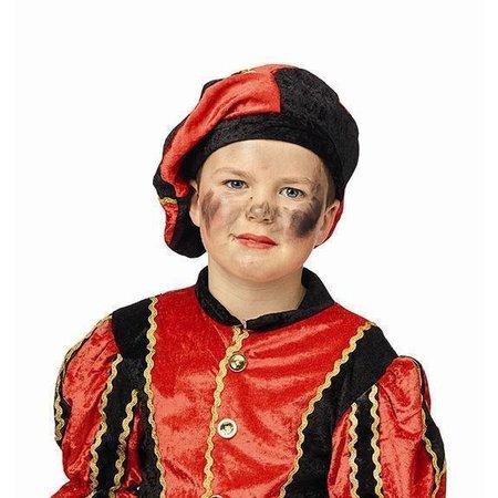 Baret piet kind rood/zwart