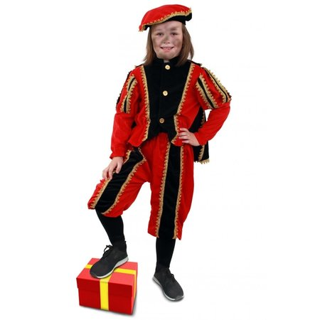Zwarte Pieten Pak Kind Rood