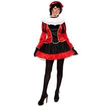 Pieten jurkje met petticoat rood