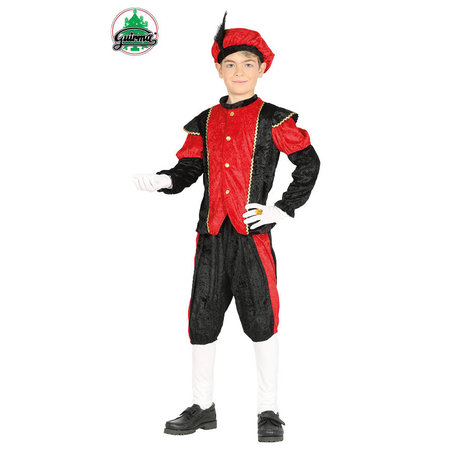 Pietenpak jongen/meisje rood-zwart