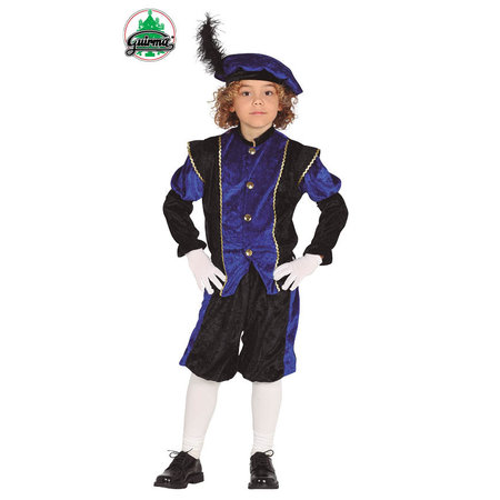 Pietenpak jongen/meisje blauw-zwart