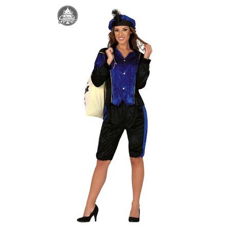 Dames pietenpak blauw