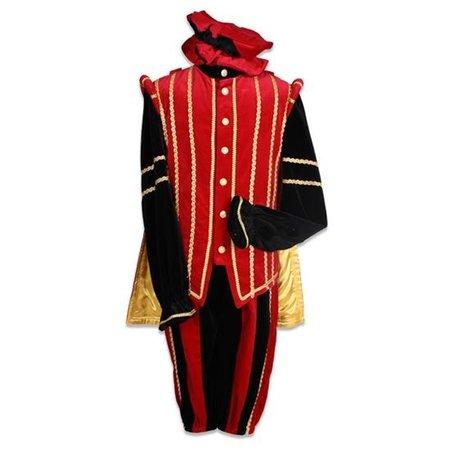 Pietenpak Fluweel Marbella Rood/Zwart Luxe