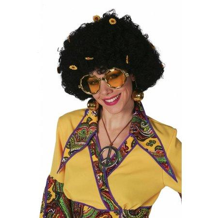 Afro pruik Flower