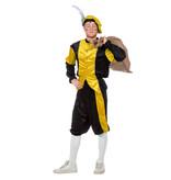 Pieten kostuum Diego zwart/geel