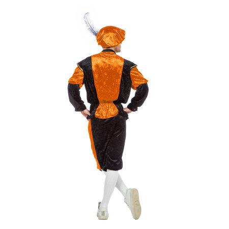 Pieten kostuum Diego zwart/oranje