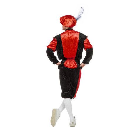 Pieten kostuum Diego zwart/rood