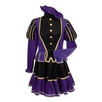 Dames piet kostuum zwart/paars