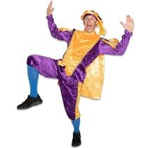 Pietenpak paars/geel met cape