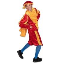 Pietenpak rood/geel met cape