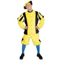 Zwarte Piet kostuum katoen fluweel Goudgeel/Zwart