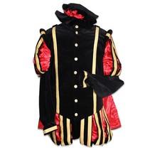 Luxe Pieten kostuum Malaga zwart/rood