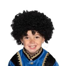 Zwarte pietenpruik junior