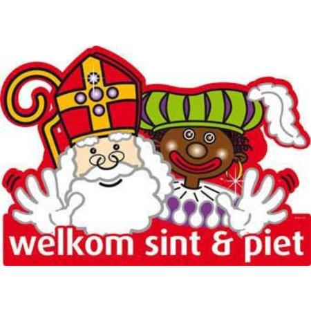 Deurbord Welkom Sint en Piet