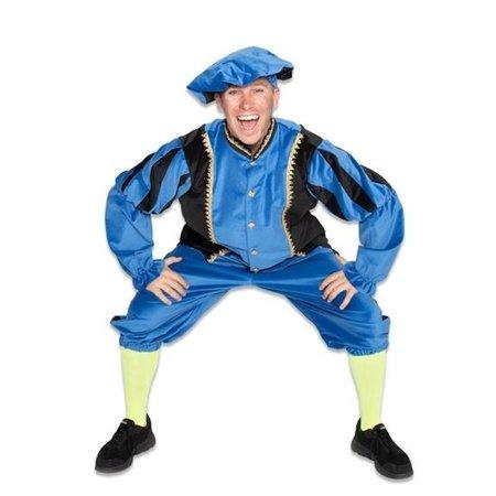 Blauw Piet kostuum katoen fluweel