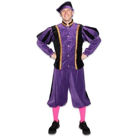 Piet kostuum katoen fluweel Zwart/Paars