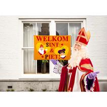 Raamvlag Welkom Sint en Piet