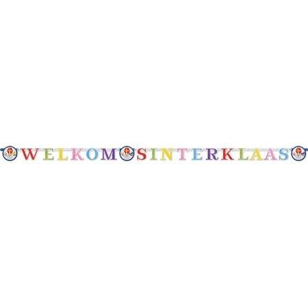 Welkom Sinterklaas Letterslinger Multikleur (2,85m)