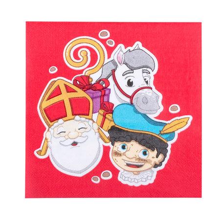 Servetten Sinterklaas (12 st)