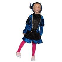 Pietenjurkje kind Blauw/Zwart met petticoat