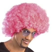 Afropruik krul Roze