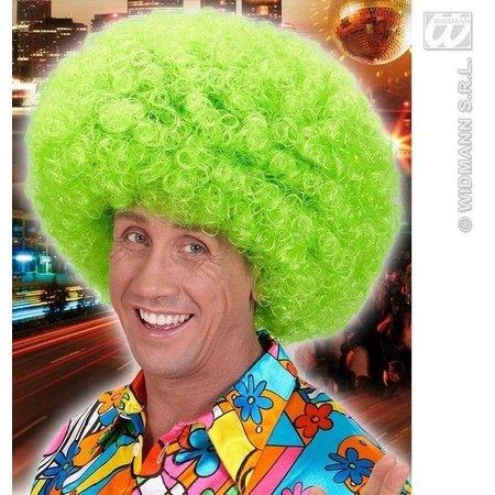 Pruik Afro Jimmy neon groen oversized