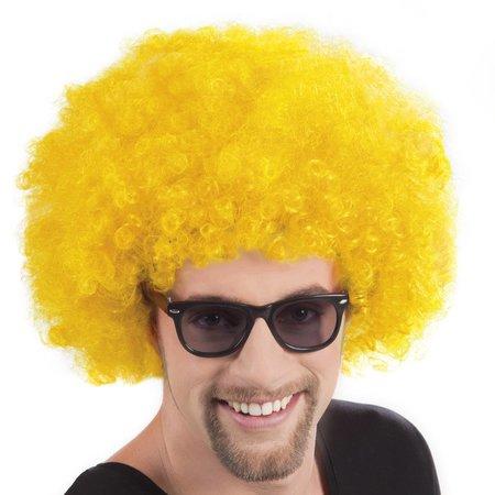 Pruik Afro geel