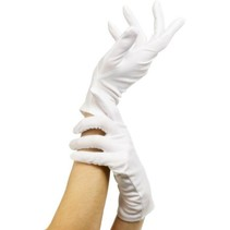 Handschoenen wit kort
