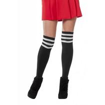 Cheerleader sokken zwart/wit