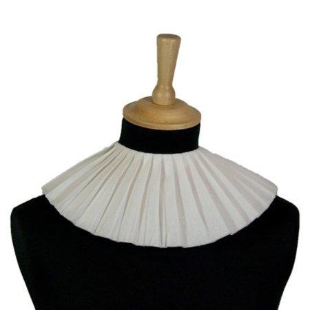 Piet kraag crêpepapier wit 3 lagen