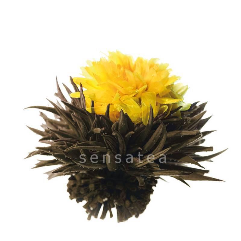 10 theebloemen Delightful Yellow + bewaarzak