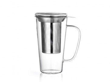 Glas Rimini met filter en deksel 500 ml