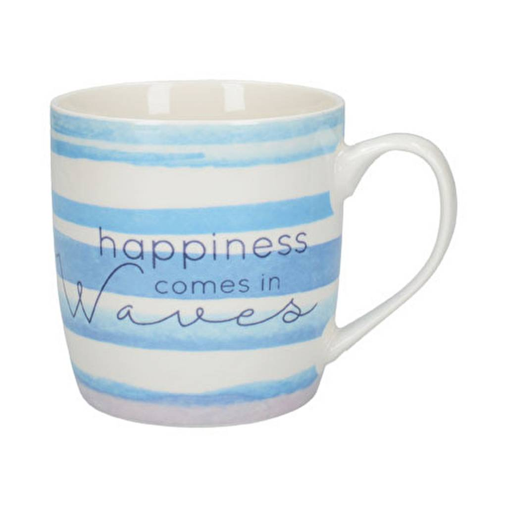'Happiness comes in Waves' mok 250 ml