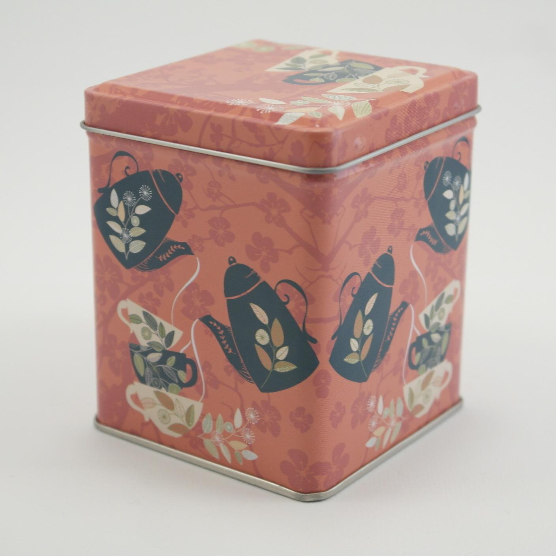 Blikje met 6 theebloemen in 3 soorten