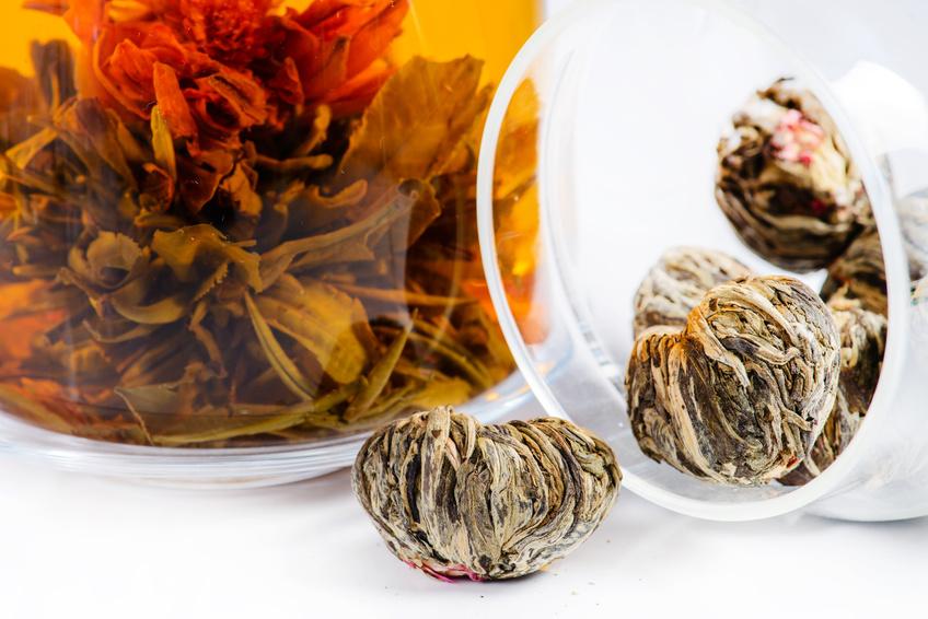 50 theebloemen per stuk verpakt