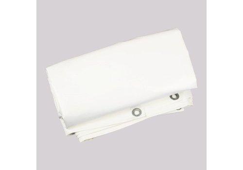 Brandvertragend afdekzeil 2x3m PVC 650 - Wit