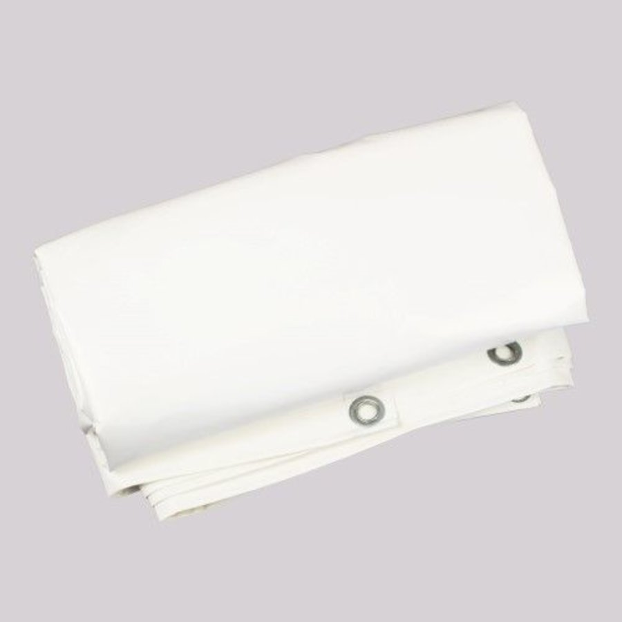 Flame retardant tarp 4x6m PVC 650 gr/m² FR standard M2/DIN4102-B1 - White
