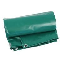 Heavy-duty groundsheet 6x8 PVC 600 gr/m² - Green