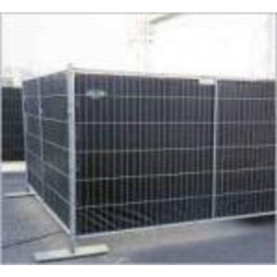 Flame retardant fence tarp PE 150 gr/m² FR DIN4102-B1 - Black