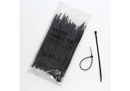 Cable ties 4.6 x 200mm (100pcs) - Black